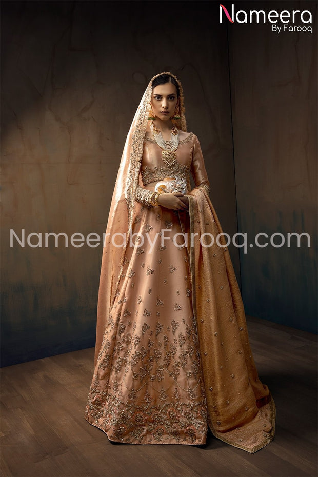 Pakistani Raw Silk Lehenga Choli in Pink Color