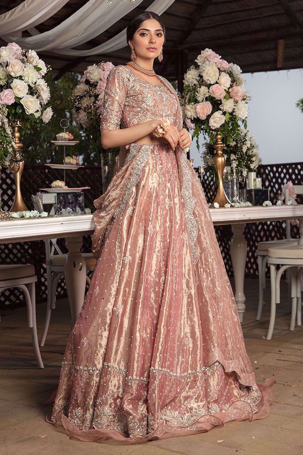 Pakistani Valima Lehnga Choli with Embroidery
