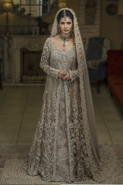 Pakistani Walima Bridal Dress in Ivory Color