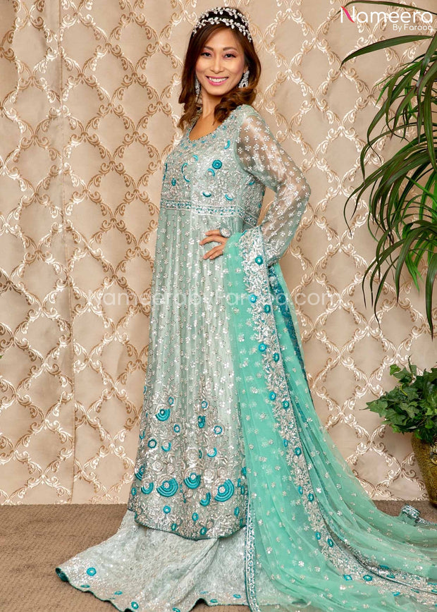 Walima Dress for Bride with Embroidery