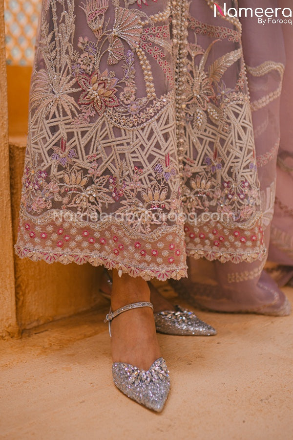 Pakistani Wedding Party Dress for Ladies Gherah Look