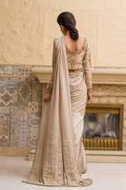 Pakistani Wedding Bridal Saree in Light Skin Color