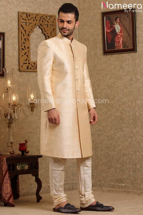 Pakistani Wedding Sherwani for Men's Online 2021 Secound Look
