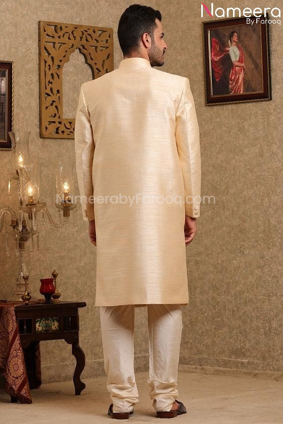 Pakistani Wedding Sherwani for Men's Online 2021 Back side Look
