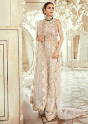 Pakistani Bridal Dress for Wedding in Ivory Color