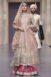 Pakistani Bridal Dress in Pink Color for Wedding