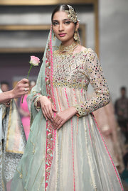 Pakistani Bridal Froke in Blue Color for Wedding