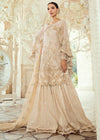 akistani Bridal Gharara for Wedding in Ivory Color Overall Look