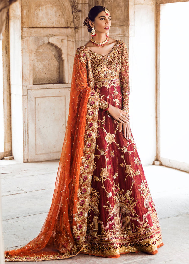Pakistani Bridal Gown Lehnga for Wedding Overall Look