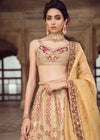 Pakistani Bridal Lehnga Choli in Light Pink Color Close Up