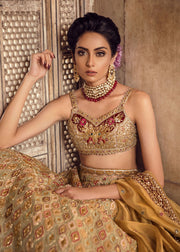 Pakistani Bridal Lehnga Choli in Light Pink Color