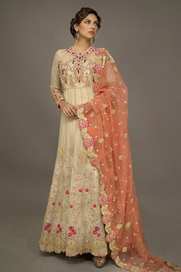Pakistani Bridal Long Froke for Wedding Front Look