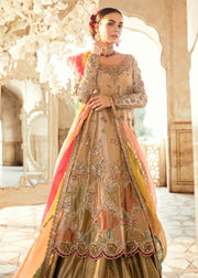 Pakistani Bridal Long Shirt Lehnga for Wedding Front Look