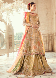Pakistani Bridal Long Shirt Lehnga for Wedding Overall Look
