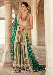 Pakistani Bridal Short Froke Dress for Wedding FrontLook