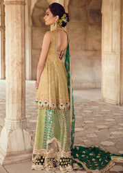 Pakistani Bridal Short Froke Dress for Wedding Backside View