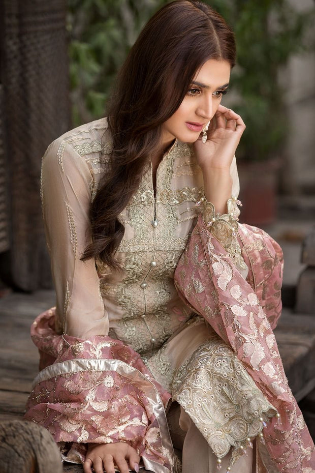 Pakistani Designer Chiffon Dress for Eid Close Up