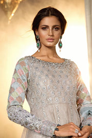 Pakistani Designer Dress with Gota Embroidery Close Up