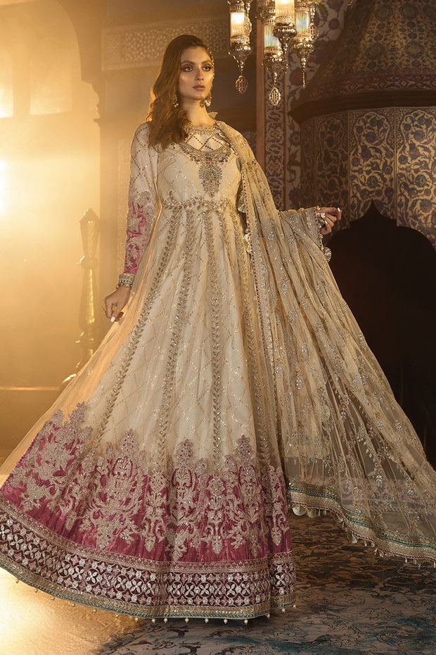 Pakistani Designer Dresses Anarkali Frock in Gold Color