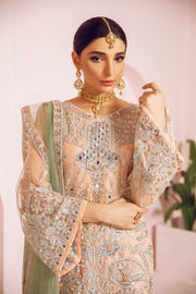 Pakistani Fancy Outfit with Ghararah for Party Close Up