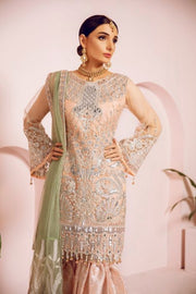 Pakistani Fancy Outfit with Ghararah for Party Side Look