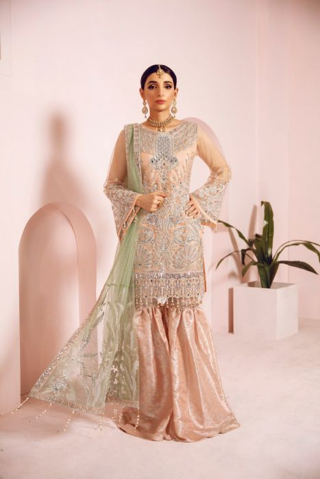 Pakistani Fancy Outfit with Ghararah for Party