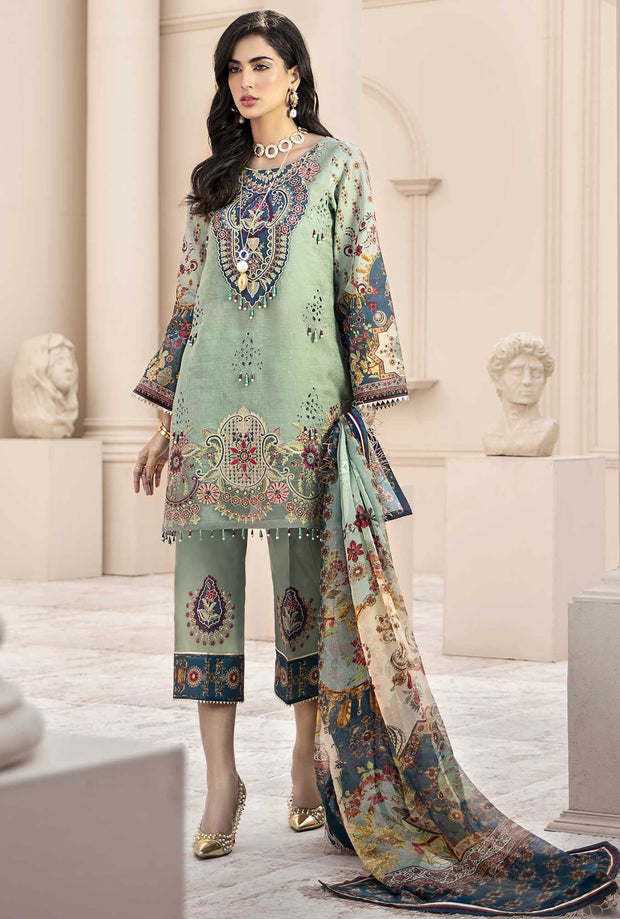 Pakistani Lawn Wear with Embroidery