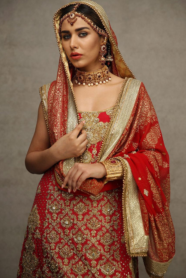 Pakistani Red Bridal Lehnga for Wedding