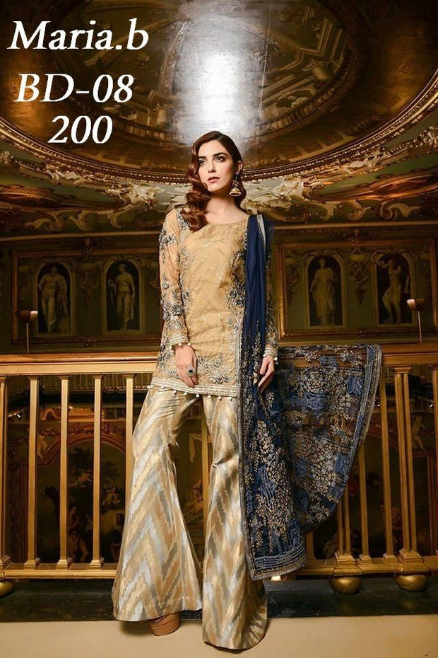 Pakistani Silk Chiffon Festive Designer Dress by Maria. B