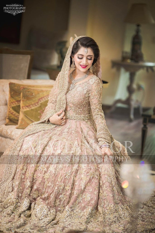Pakistani Walima Bridal Dress Pastel Pink