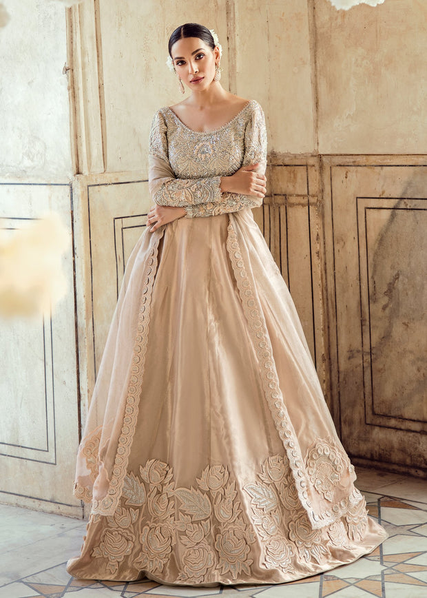 Pakistani Wedding Bridal Lehnga Dress in Ice Pink Color Overall Look