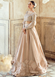 Pakistani Wedding Bridal Lehnga Dress in Ice Pink Color Front Look