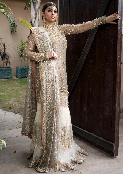 Elegant Pakistani Wedding Dress For Bride