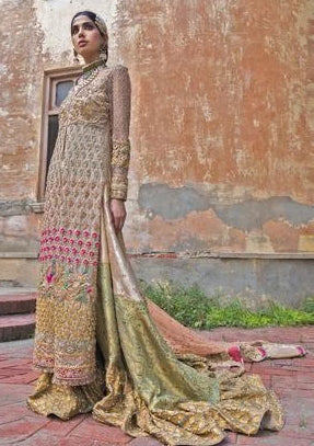 Dreamy Touch of Blooms Bridal Sharara 1