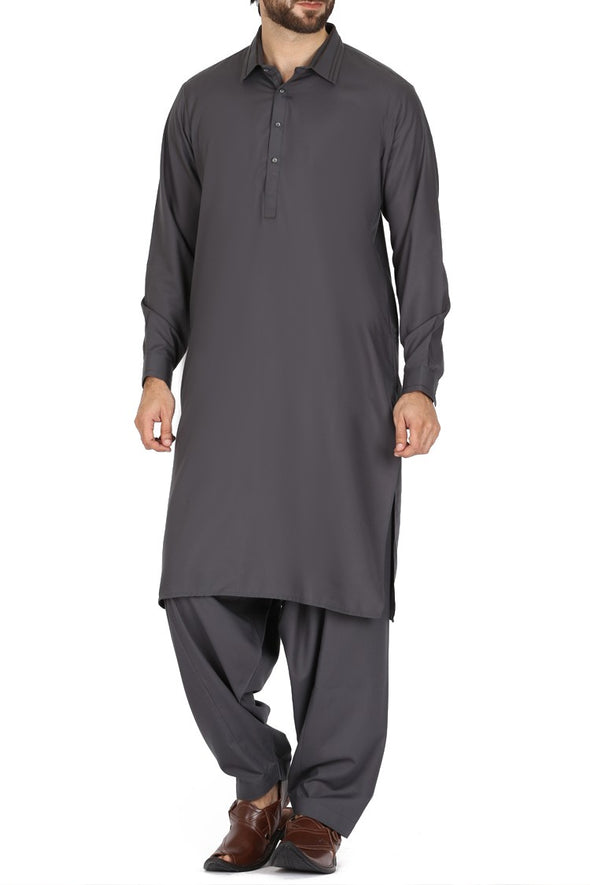 Buy Pakistani dark green color shalwar kameez