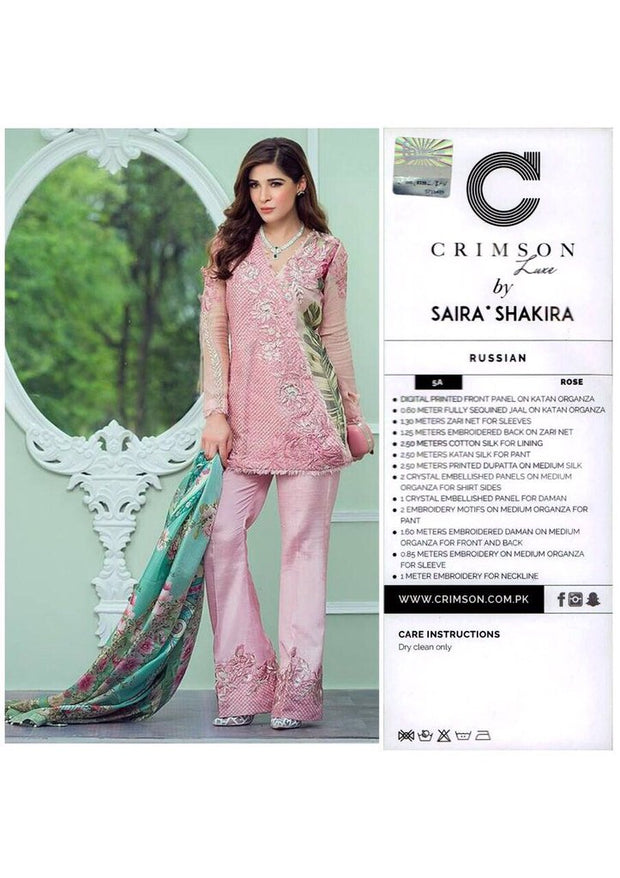 Pakistani designer dress Chiffon Dress Threads Embroidery