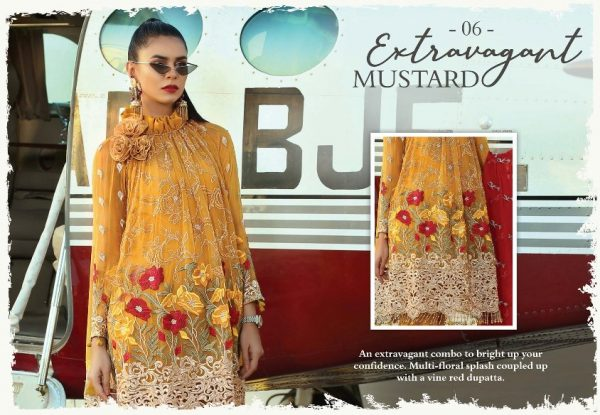 Trendy Mustard Suit in Chiffon 2
