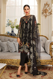 Pakistani Eid Dress In Elegant Black