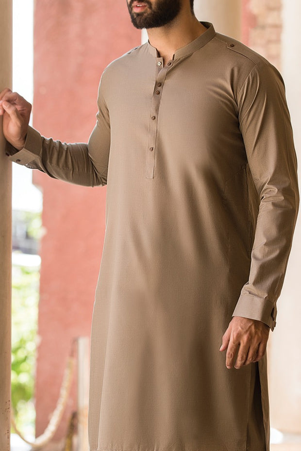 Pakistani elegant sand color men's wear