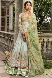 Beautiful Pakistani fancy dress in lavish aqua color