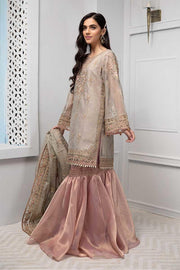 Beautiful Pakistani gharara dress in lavish beige color # P2239