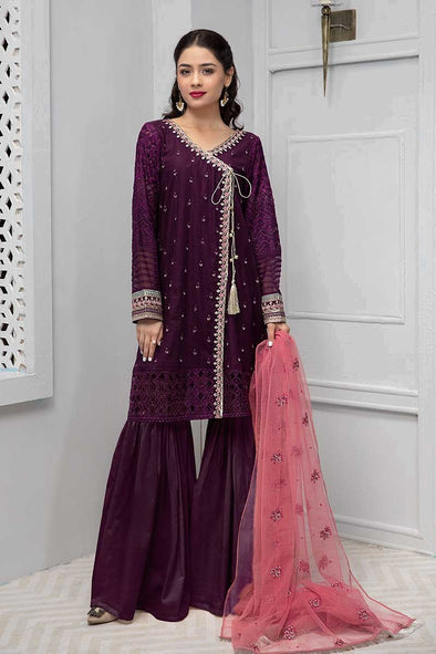 Beautiful Pakistani gharara suit with angrakha style shirt