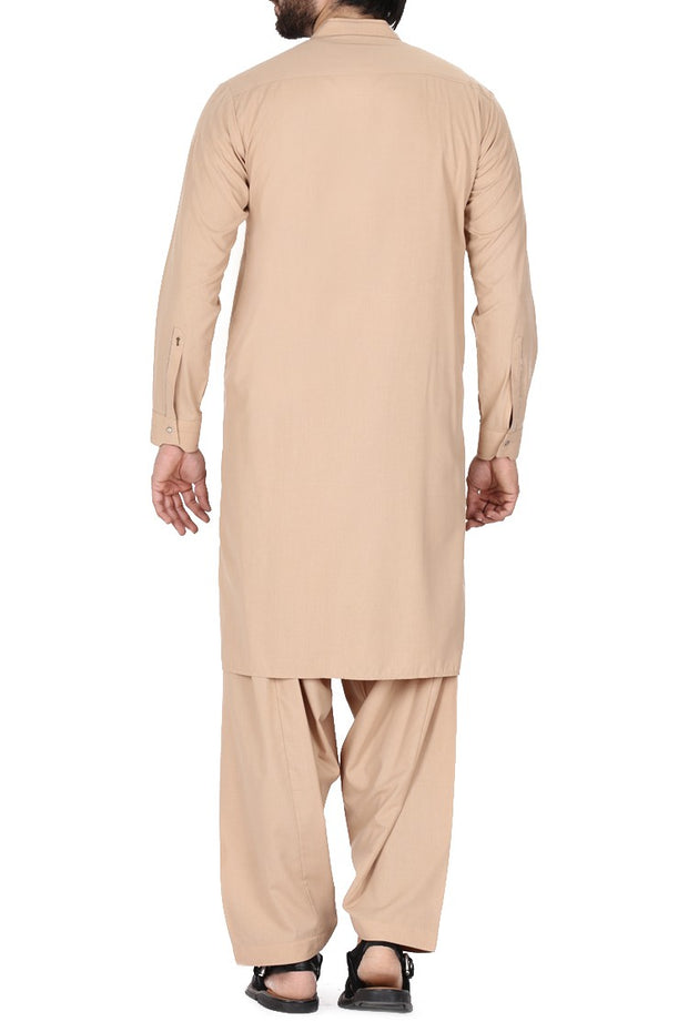 Pakistani light brown casual men's wear