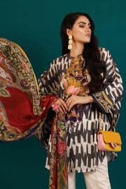 Beautiful Pakistani woven outfit for casual wear in off-white color