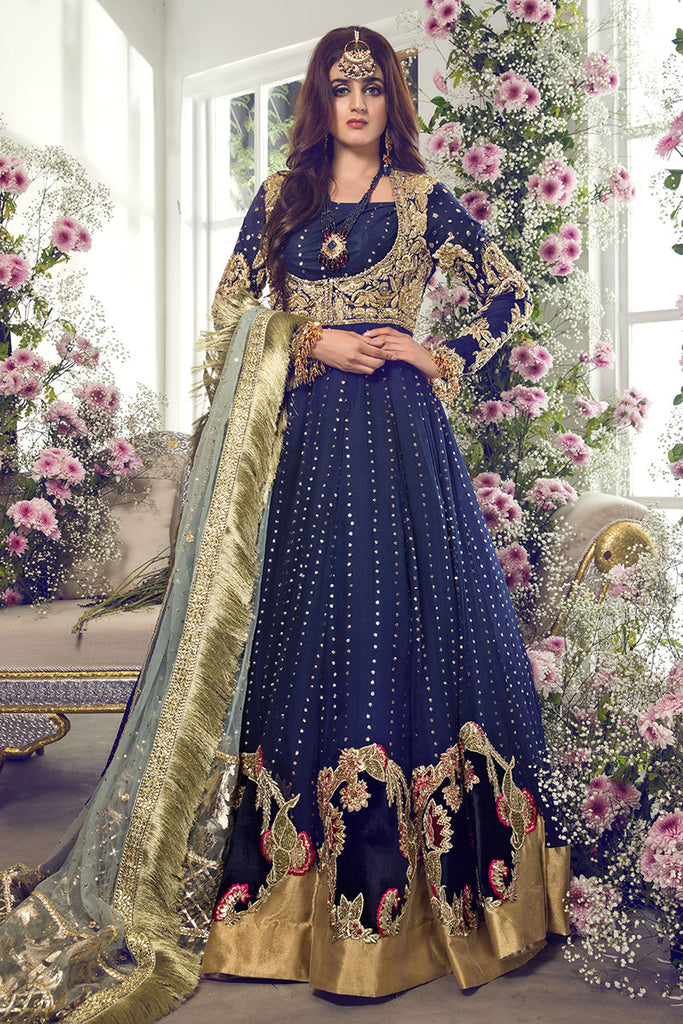 Pakistani Bridal Dress 2020 With Multi Embroidered Work Nameera By Farooq,Wedding Guest Simple Rose Gold Casual Dress