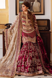 Pakistani gharara with knee-length shirt