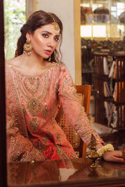 Pakistani long shirt bridal wear