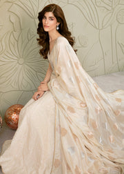 Party Lehnga Wear in Off White Color
