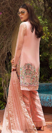 Party dress for girls beautifully embroidered in blush pink color # P2213