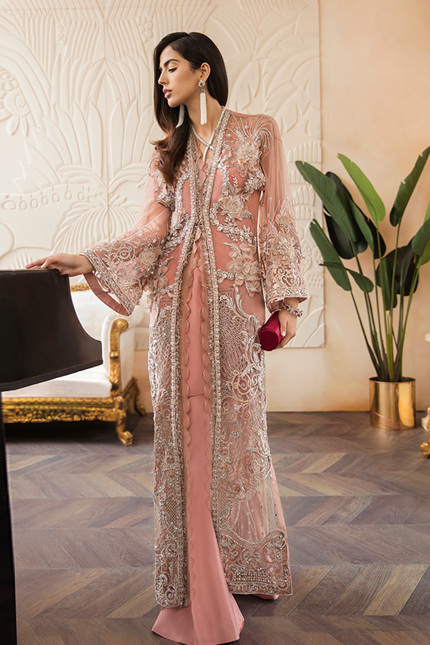 Party wear suit in rosy pink color # P2216